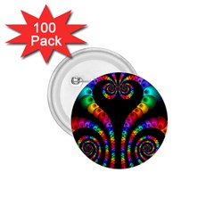 Fractal Drawing Of Phoenix Spirals 1 75  Buttons (100 Pack)
