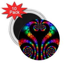 Fractal Drawing Of Phoenix Spirals 2 25  Magnets (10 Pack)