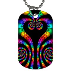 Fractal Drawing Of Phoenix Spirals Dog Tag (One Side)