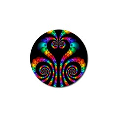 Fractal Drawing Of Phoenix Spirals Golf Ball Marker (10 Pack)