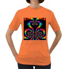 Fractal Drawing Of Phoenix Spirals Women s Dark T Shirt
