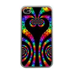 Fractal Drawing Of Phoenix Spirals Apple Iphone 4 Case (clear)