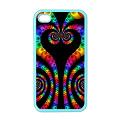 Fractal Drawing Of Phoenix Spirals Apple iPhone 4 Case (Color)
