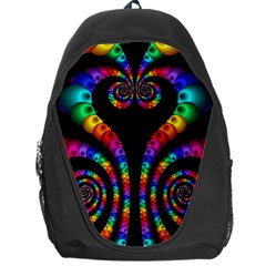 Fractal Drawing Of Phoenix Spirals Backpack Bag