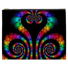 Fractal Drawing Of Phoenix Spirals Cosmetic Bag (XXXL)