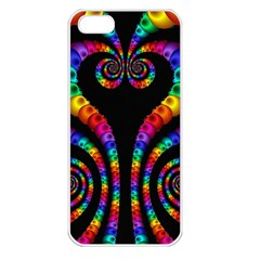 Fractal Drawing Of Phoenix Spirals Apple iPhone 5 Seamless Case (White)