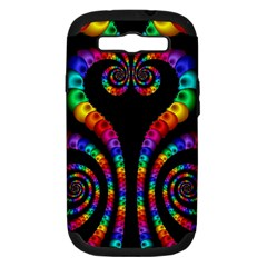 Fractal Drawing Of Phoenix Spirals Samsung Galaxy S III Hardshell Case (PC+Silicone)