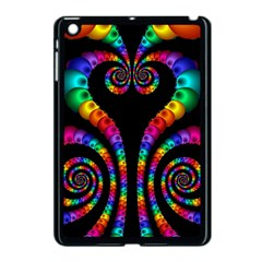 Fractal Drawing Of Phoenix Spirals Apple iPad Mini Case (Black)