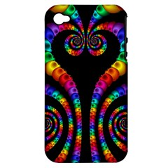 Fractal Drawing Of Phoenix Spirals Apple Iphone 4/4s Hardshell Case (pc+silicone)