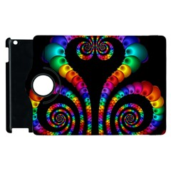 Fractal Drawing Of Phoenix Spirals Apple Ipad 2 Flip 360 Case