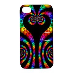 Fractal Drawing Of Phoenix Spirals Apple Iphone 4/4s Hardshell Case With Stand