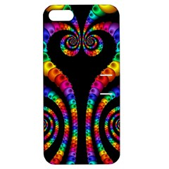 Fractal Drawing Of Phoenix Spirals Apple iPhone 5 Hardshell Case with Stand
