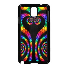 Fractal Drawing Of Phoenix Spirals Samsung Galaxy Note 3 Neo Hardshell Case (Black)