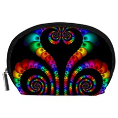Fractal Drawing Of Phoenix Spirals Accessory Pouches (Large)
