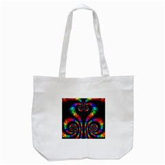Fractal Drawing Of Phoenix Spirals Tote Bag (White)