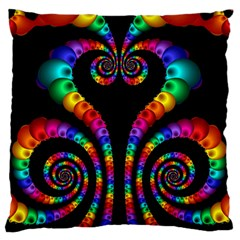 Fractal Drawing Of Phoenix Spirals Standard Flano Cushion Case (One Side)
