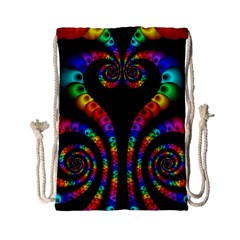 Fractal Drawing Of Phoenix Spirals Drawstring Bag (small)