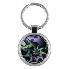 Fractal Image With Sharp Wheels Key Chains (Round)