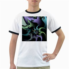 Fractal Image With Sharp Wheels Ringer T-Shirts