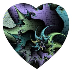 Fractal Image With Sharp Wheels Jigsaw Puzzle (Heart)