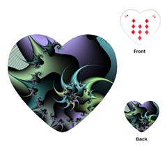 Fractal Image With Sharp Wheels Playing Cards (heart)