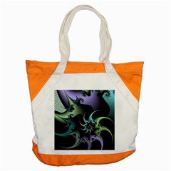 Fractal Image With Sharp Wheels Accent Tote Bag