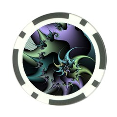 Fractal Image With Sharp Wheels Poker Chip Card Guard