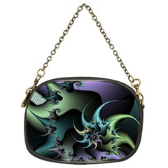 Fractal Image With Sharp Wheels Chain Purses (one Side)
