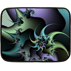 Fractal Image With Sharp Wheels Fleece Blanket (mini)