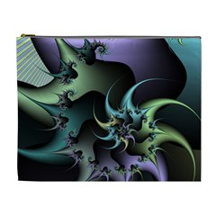 Fractal Image With Sharp Wheels Cosmetic Bag (xl)