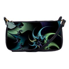 Fractal Image With Sharp Wheels Shoulder Clutch Bags