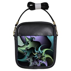 Fractal Image With Sharp Wheels Girls Sling Bags