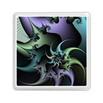 Fractal Image With Sharp Wheels Memory Card Reader (Square)  Front