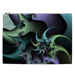 Fractal Image With Sharp Wheels Cosmetic Bag (XXL)