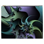 Fractal Image With Sharp Wheels Cosmetic Bag (XXXL)  Front