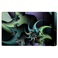 Fractal Image With Sharp Wheels Apple iPad 3/4 Flip Case