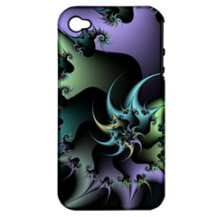 Fractal Image With Sharp Wheels Apple iPhone 4/4S Hardshell Case (PC+Silicone)