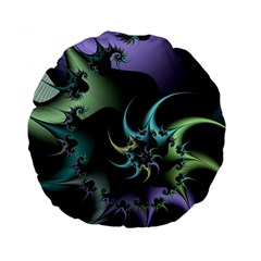 Fractal Image With Sharp Wheels Standard 15  Premium Round Cushions