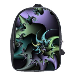 Fractal Image With Sharp Wheels School Bags (XL)