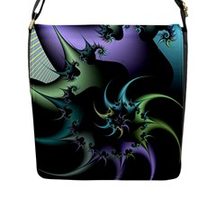 Fractal Image With Sharp Wheels Flap Messenger Bag (L)