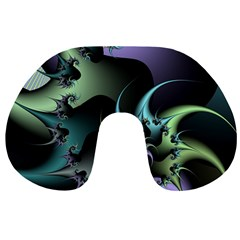 Fractal Image With Sharp Wheels Travel Neck Pillows