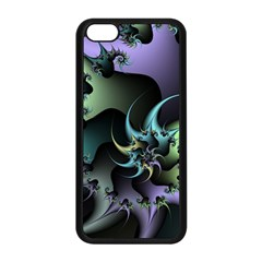 Fractal Image With Sharp Wheels Apple Iphone 5c Seamless Case (black)