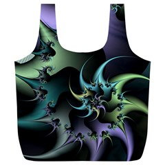 Fractal Image With Sharp Wheels Full Print Recycle Bags (L)
