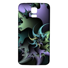 Fractal Image With Sharp Wheels Samsung Galaxy S5 Back Case (White)