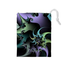 Fractal Image With Sharp Wheels Drawstring Pouches (Medium)