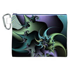 Fractal Image With Sharp Wheels Canvas Cosmetic Bag (XXL)