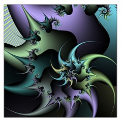 Fractal Image With Sharp Wheels Large Satin Scarf (Square)
