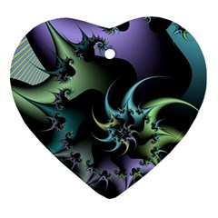 Fractal Image With Sharp Wheels Ornament (Heart)