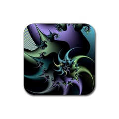 Fractal Image With Sharp Wheels Rubber Square Coaster (4 pack)