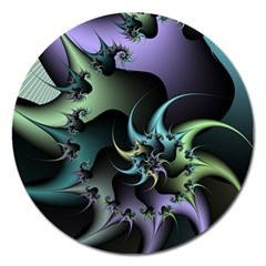 Fractal Image With Sharp Wheels Magnet 5  (Round)